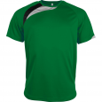 Short-sleeved sports t-shirt - kids - green/black/storm grey
