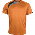 Short-sleeved sports t-shirt - kids - orange/black/storm grey