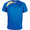 Short-sleeved sports t-shirt - kids - sporty royal blue/sporty yellow/storm grey