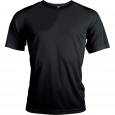Short-sleeved sports t-shirt - men - black