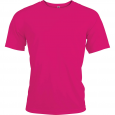 Short-sleeved sports t-shirt - men - fuchsia