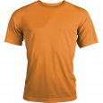 Short-sleeved sports t-shirt - men - orange