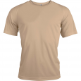 Short-sleeved sports t-shirt - men - sand