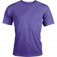 Short-sleeved sports t-shirt - men - violet