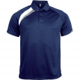 Short-sleeved sports polo shirt - men - sporty navy/white/storm grey
