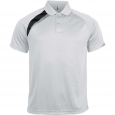 Short-sleeved sports polo shirt - men - white/black/storm grey
