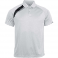 Short-sleeved sports polo shirt - kids - white/black/storm grey