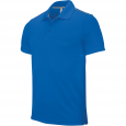 Short-sleeved polo shirt - men - sporty royal blue