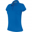Short-sleeved polo shirt - ladies - sporty royal blue