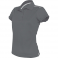 Short-sleeved polo shirt - ladies - sporty grey