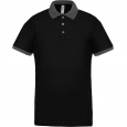 Performance piqué polo shirt - men - black/sporty grey
