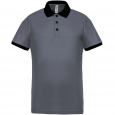 Performance piqué polo shirt - men - sporty grey/black