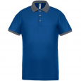 Performance piqué polo shirt - men - sporty royal blue/sporty grey
