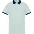 Performance piqué polo shirt - men - white/sporty grey