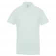Performance piqué polo shirt - men - white/white