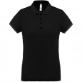 Performance piqué polo shirt - ladies - black/black