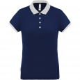 Performance piqué polo shirt - ladies - navy/white
