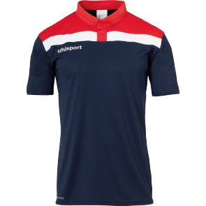 Polo manches courtes Offense 23 - Bleu Marine/rouge/blanc - Homme