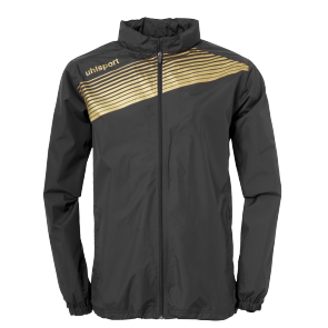 Rain jacket Liga 2.0 - Black/gold - Kids - 128
