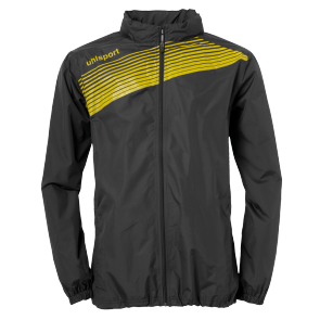 Rain jacket Liga 2.0 - Black/lime Yellow - Kids - 128
