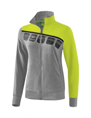5-C Presentation Jacket - Women - grey marl/lime pop/black