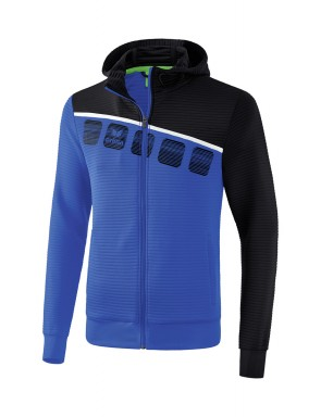 5-C Training Jacket with hood - Kids and Adults - new royal/black/white