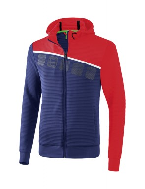 5-C Training Jacket with hood - Kids - new navy/red/white