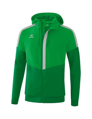 Squad Track Top Jacket with hood - Men - fern green/emerald/silver grey