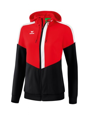 Squad Track Top Jacket with hood - Women - red/black/white
