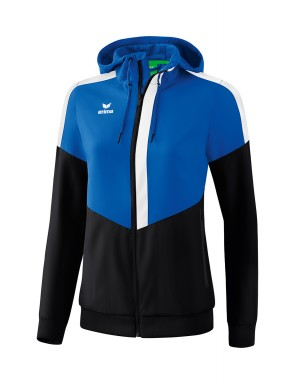 Squad Track Top Jacket with hood - Women - new royal/black/white