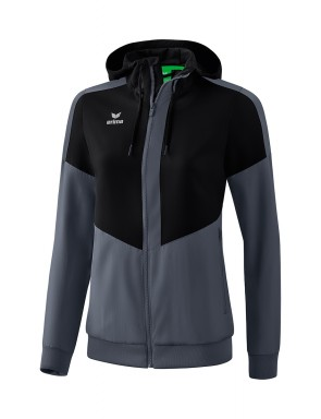 Squad Track Top Jacket with hood - Women - black/slate grey