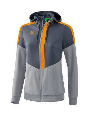 Squad Track Top Jacket with hood - Women - slate grey/monument grey/new orange