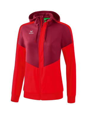 Squad Track Top Jacket with hood - Women - bordeaux/red