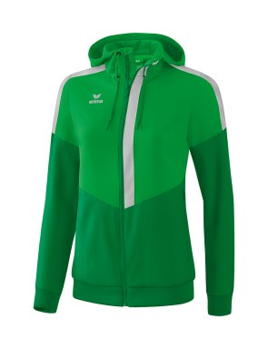Squad Track Top Jacket with hood - Women - fern green/emerald/silver grey