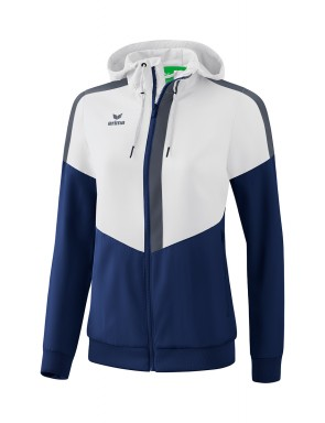 Squad Track Top Jacket with hood - Women - white/new navy/slate grey