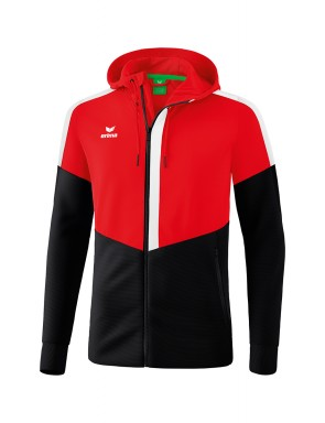 Squad Training Jacket with hood - Kids - red/black/white
