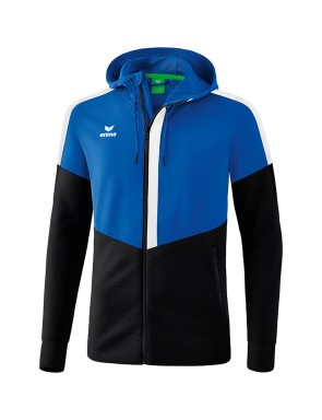 Squad Training Jacket with hood - Kids - new royal/black/white