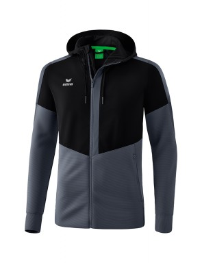 Squad Training Jacket with hood - Men - black/slate grey