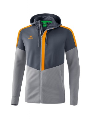 Squad Training Jacket with hood - Kids - slate grey/monument grey/new orange
