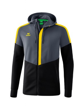 Squad Training Jacket with hood - Kids - slate grey/black/yellow