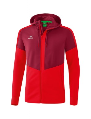 Squad Training Jacket with hood - Kids - bordeaux/red