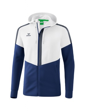 Squad Training Jacket with hood - Kids - white/new navy/slate grey