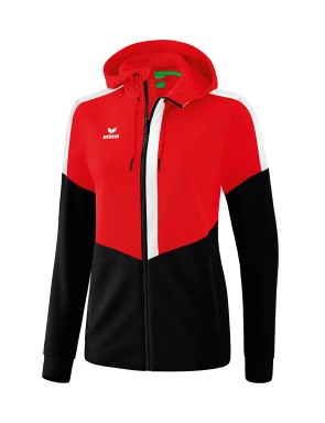 Squad Training Jacket with hood - Women - red/black/white