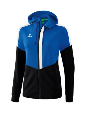 Squad Training Jacket with hood - Women - new royal/black/white