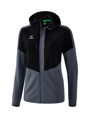 Squad Training Jacket with hood - Women - black/slate grey
