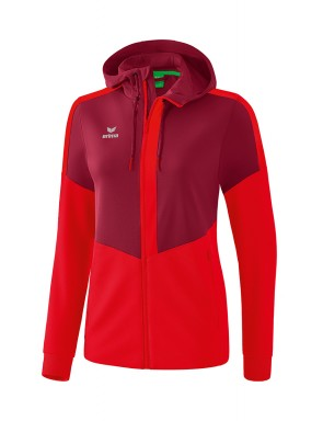 Squad Training Jacket with hood - Women - bordeaux/red