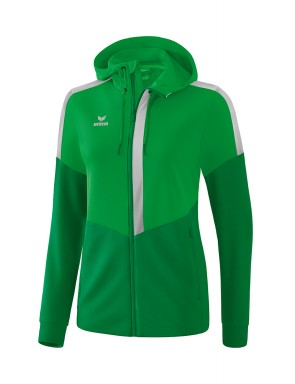 Squad Training Jacket with hood - Women - fern green/emerald/silver grey