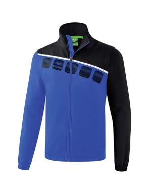 5-C Jacket with detachable sleeves - Men - new royal/black/white