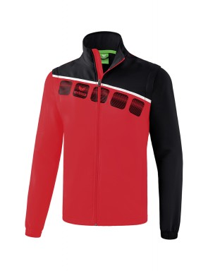 5-C Jacket with detachable sleeves - Adults - red/black/white