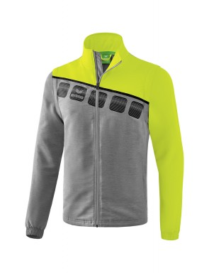 5-C Jacket with detachable sleeves - Adults - grey marl/lime pop/black